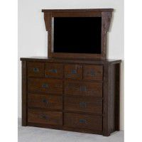 Northwoods Barnwood 10 Drawer Chesser with Mirror