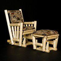 Log Glider/Rocker and Ottoman