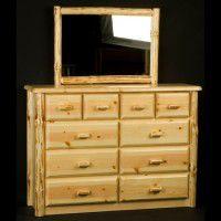 Wilderness Ten Drawer Dresser and Mirror