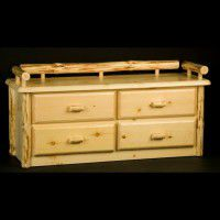 Wilderness Four Drawer Deacon's Bench