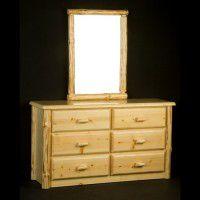 Wilderness Six Drawer Dresser and Mirror