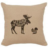 "Close to Nature Linen Pillow 16"" x 16"" (5 colors)"