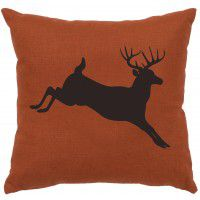 Jumping Deer Linen Pillow (5 colors)