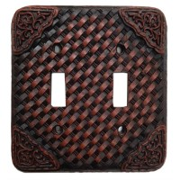 Woven Leather Switch Covers