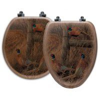 Abandoned Fence Line Pheasant Toilet Seats