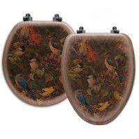 Berry Bush Song Bird Toilet Seats