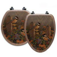 Country Chickadee Toilet Seats