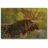 Crisp Fall Morning Moose Wall Art