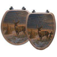 Deer in Winter Toilet Seats