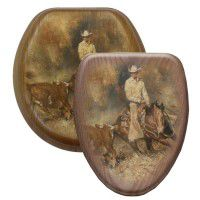 Cattle Roping Toilet Seats