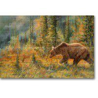Grizzly Bear Walking Wall Art