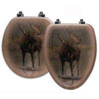 Quiet Water Moose Toilet Seats