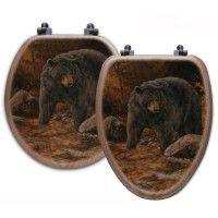 Streamside Bear Toilet Seats