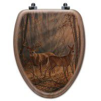 Summer Deer Toilet Seat-Elongated