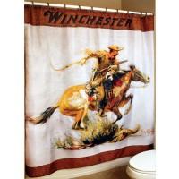 Winchester Horse & Rider Shower Curtain