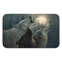 Wolf Bath Mat Memory Foam