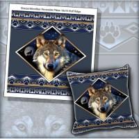 Micro Mink Sherpa Wolf Ridge Throw & Pillow