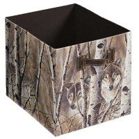 Fleeting Glimpse – Wolves Folding Storage Bin