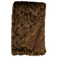 Faux Grizzly Bear Fur Throw