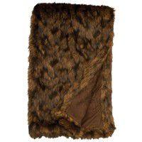 Faux Grizzly Bear Fur Throw