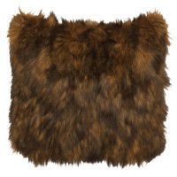 Faux Grizzly Bear Fur Pillow