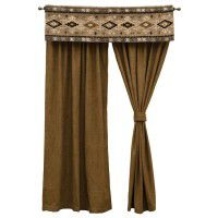 Truffle Drapes and Mountain Storm Valance