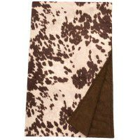 Brown Faux Hair on Hide Throw
