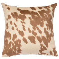 Cream Faux Hair on Hide Pillow