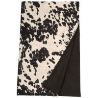 Black Faux Hair On Hide Throw