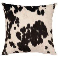 Black Faux Hair On Hide Pillow