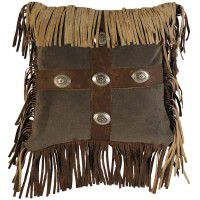 Mustang Fringed Pillow