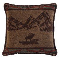Rocky Mountain Elk Accent Pillow
