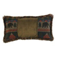 Cabin Bear Rectangle Pillow