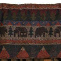 Cabin Bear Valance