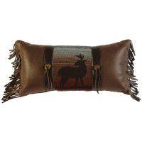 Fringed Deer Meadow Pillow