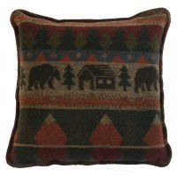 Cabin Bear Square Pillow
