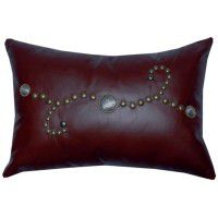 Sierra Concho Leather Pillow