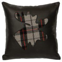 Ponderosa Plaid Moose Leather Pillow