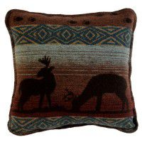 Deer Meadow Square Pillow