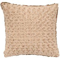Rosebud Faux Fur Pillow