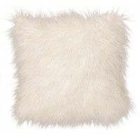 Llama Snow Faux Fur Pillow
