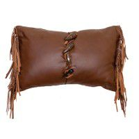 Toggle Button Leather Pillow