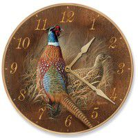Late Season Pheasant Wall Clock