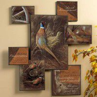 Pheasant Collage Wall Art