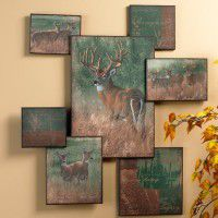 Nature's Plan  Whitetail Deer Collage Wall Art