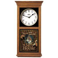 Squirrel Nut House Oak Regulator Clock