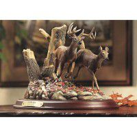 Autumn Run-Whitetail Deer Sculpture -DISCONTINUED