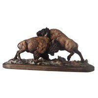 Test of Strength - Buffalo Sculpture