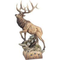 Hoofin It Elk Sculpture