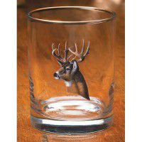 Whitetail Portrait Double Old Fashion Glasses (Set of 12)